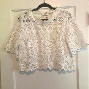 Cropped Lace Top NWT